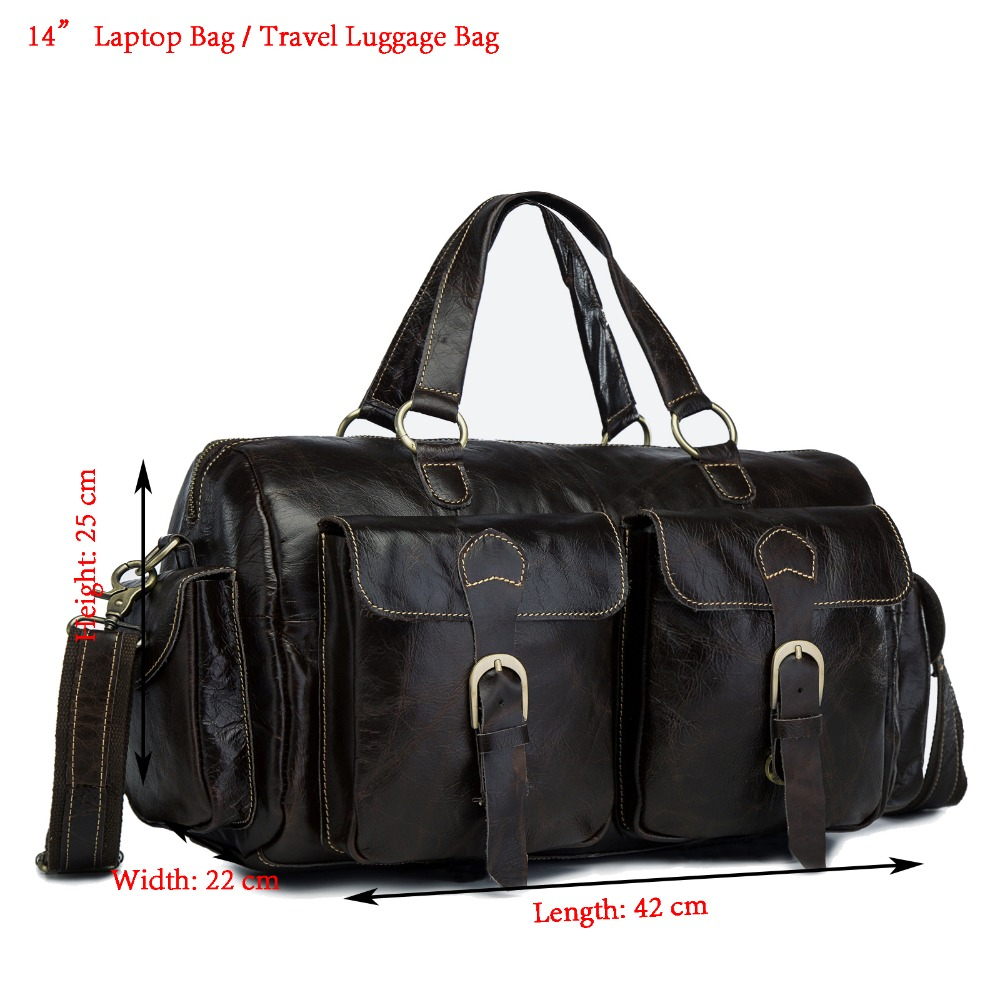 Men Quality Leather Fashion Business Briefcase Messenger Bag Male Design Travel 14