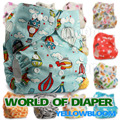 Baby Washable Reusable Cloth Pocket Nappy Diaper One Size Cover Wrap, Select A1/B1/C1 from Photos, Nappy/Diaper Only (No insert)