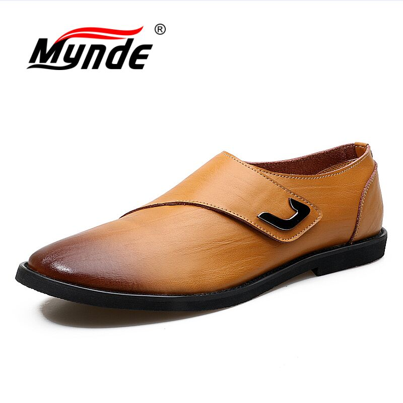 MYNDE New Mens Business Dress Shoes Designer Genuine Leather Flats Shoes Casual Oxford Shoe For Men Fashion Wedding Shoes eioupi top quality new design genuine real leather mens fashion business casual shoe breathable men boat shoes lh307