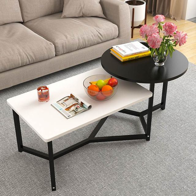 Nordic Minimalist Combination Coffee Table Creative Small Apartment Living Room Tea Square Dining Home Furniture
