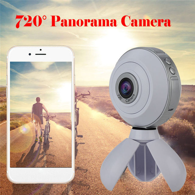 Free shipping!360 *360 Degree Double Fish Lens Wifi Sports Action Panoramic Camera Support VR Mode