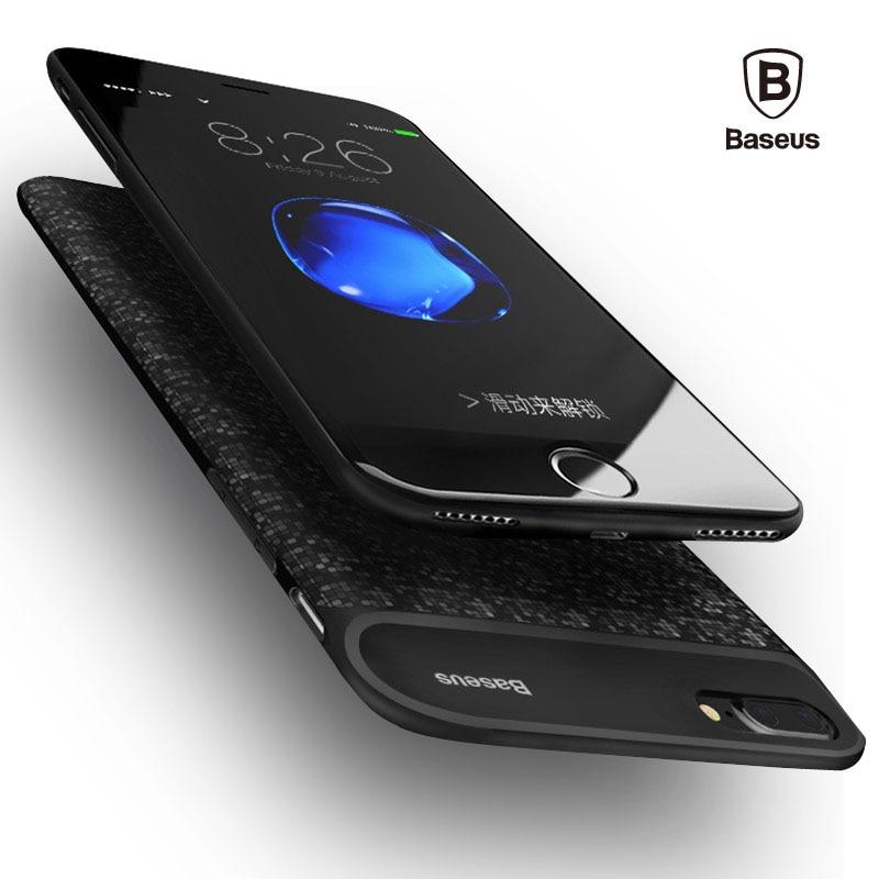 Baseus 5000/7300 mAh Batterie Chargeur Cas Pour iPhone 7/7 Plus Portable Affaire de La Banque D'alimentation De Secours Externe charge de Cas de Couverture