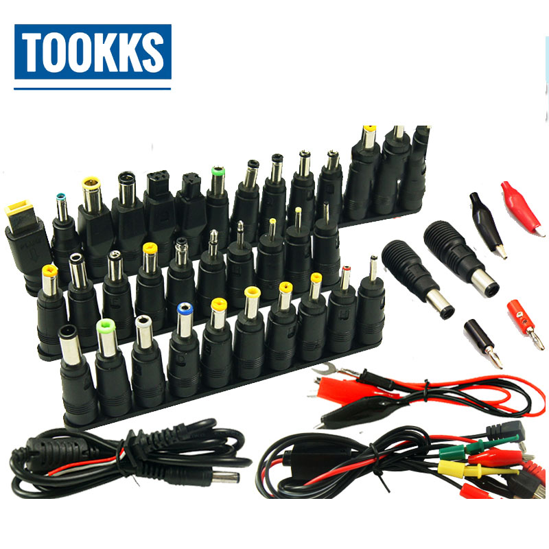 48 pcs Universal Power Adapter Charger <font><b>AC</b></font> DC Jack Power Supply Connector Plug for IBM Dell Lenovo Acer HP Toshiba Notebook Cable image