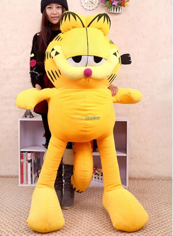 Fancytrader 59 150cm Super Cute Soft Giant Plush Garfield Cat Toy Nice Gift For Child And Friends Free Shipping Ft50131 Garfield Gift Giant Garfield Plushgiant Soft Aliexpress