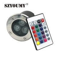 SZYOUMY 6 Pcs LED Underground Lights 3W RGB 12V AC85 265V Buried Recessed Floor Inground Step