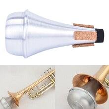 Алюминиевые прямые трубы Mute Mute для трубы Джаз инструмент практика начинающих