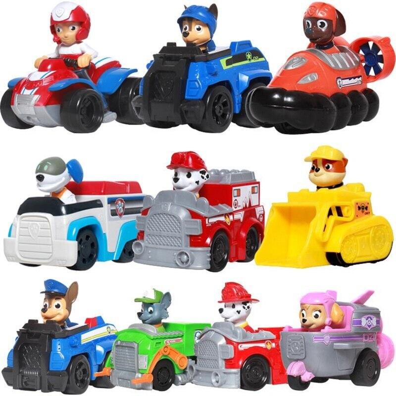 Paw Patrol Hund Welpen Patrol Auto Patrulla Canina Action-figuren vinyl puppe Spielzeug Kinder Kinder Spielzeug Geschenke