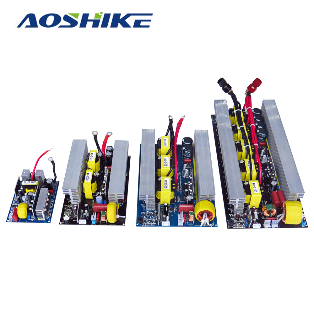 Aoshike Pure Sine Wave Inverter Board DC 24V to AC 220V 300/500/600/1000/1500/2000/2500/3000W Pass Technical Tested High Quality new arrival 220v pure sine wave power frequency inverter board 24v 36v 48v 60v 1500w 2200w 3000w 3500w hot selling