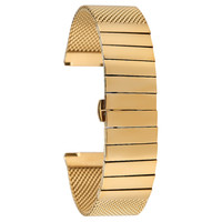 18MM 20MM 22MM 24MM Golden Steel with Mesh Wristwatch Band Luxury Replacement Watch Band Fashion Butterfly Buckle Watches Strap