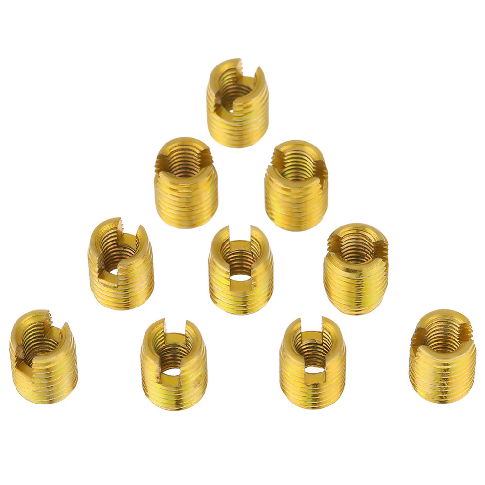 20Pcs M2-M 16 Strong Resistance Carbon Steel Self-Tapping Thread Insert Screw Repairing Accessories for Automotive Industry Household Appliances Thread Inserts #7