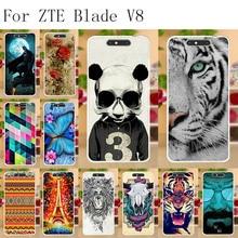 Anunob Phone Cases Coque  ZTE Blade V8 Case Cover Soft Silicone TPU For Fundas Housing Bumper 5.2