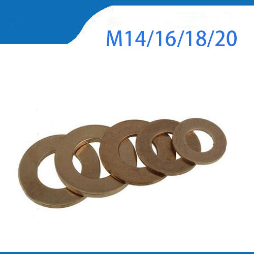 brass washer DIN7603 M4 M5 M6 M8 M10 M12 M13 M14 M16 Boat Red Brass Copper Crush Sealing Washer Flat Seal Gasket Ring 100 20pcs 10 14 1mm copper sealing washer solid gasket sump plug oil for boat crush washer flat seal ring tool parts accessories