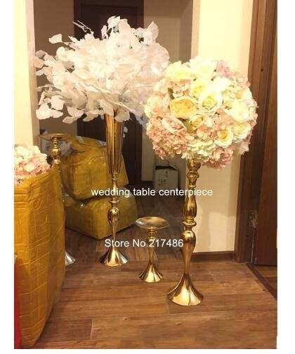 75cm Height Metal Flower Vase Gold Wedding Flower Stand Trumpet Vases Centerpieces For Wedding Home Decoration In Party Diy Decorations From Home Garden On Aliexpress