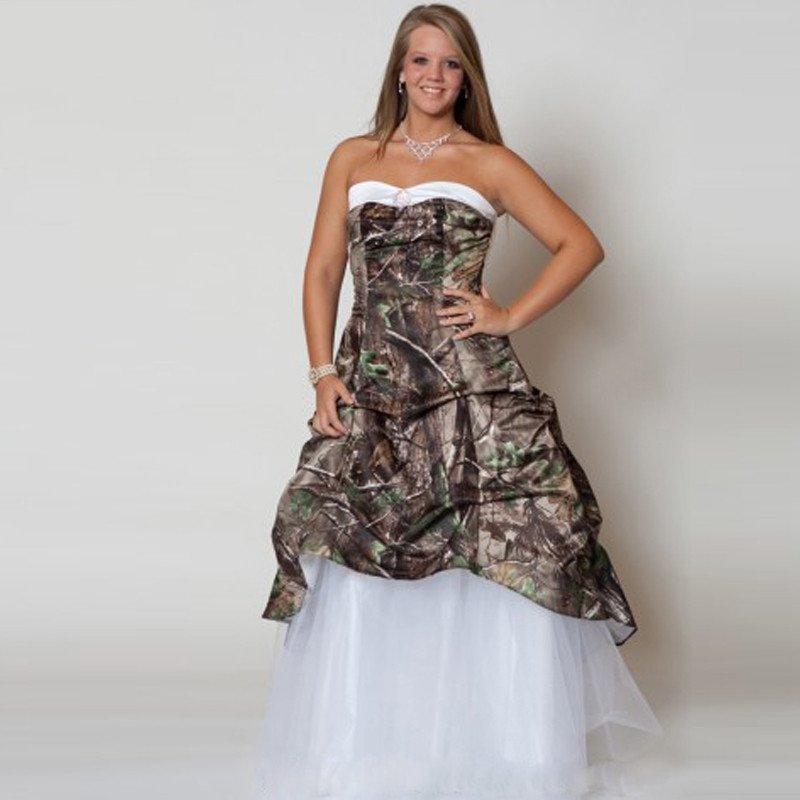 Inexpensive Plus Size Wedding Gowns: Cheap Plus Size Bridal Wedding Dress Camo 2016 Sweetheart