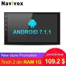 Navivox 7 font b Car b font Multimedia Player 2 din Android 7 1 1 Quad