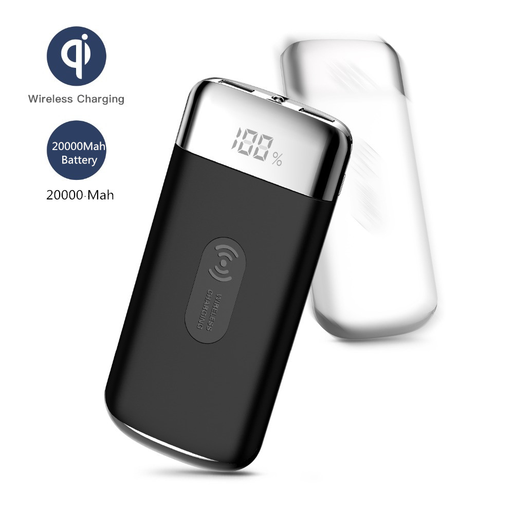 HOT SALE Double USB QI Wireless Charger Power Bank