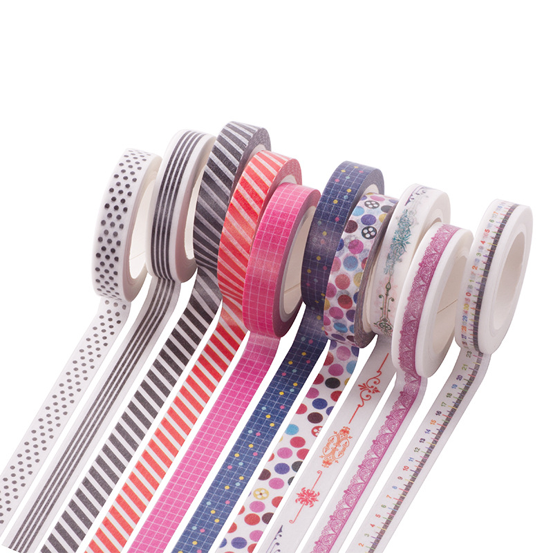 8mmX7m Washi Tape Japanese Washi Decorative Adhesive Tape DIY Masking Paper Tape Sticker Stationery tape  1060 1roll 30mmx7m high quality feather pattern japanese washi decorative adhesive diy masking paper tape label sticker wholesale