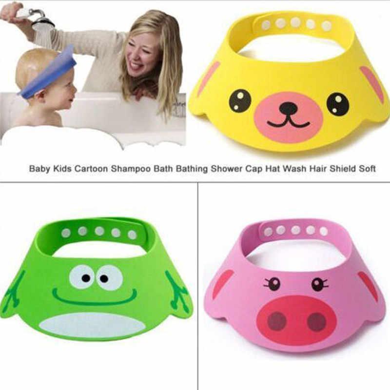 """4 размера Регулируемая детская шапочка для шампуня кольцо """"Утка"""" EVA Baby Shower шапочка для мытья волос ванная комната детская шапочка для душа s милый дизайн животных распродажа"""