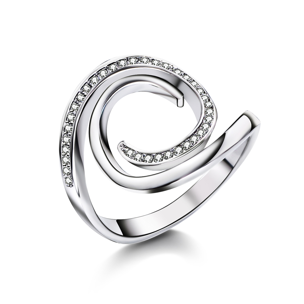Fashion Rings for Women with Zirconia Stone Design Feminine Wholesale Cubic Crystal Jewelry Anniversary Lovers' Gifts Rings