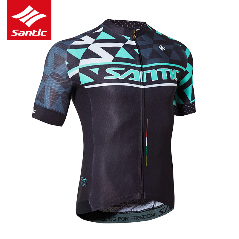 Santic Cycling Jersey 2017 Short Sleeve Anti-sweat Bicycle Jersey Breathable Pro Team Mountain Bike Jersey Camisetas Ciclismo veobike men long sleeves hooded waterproof windbreak sunscreen outdoor sport raincoat bike jersey bicycle cycling jacket