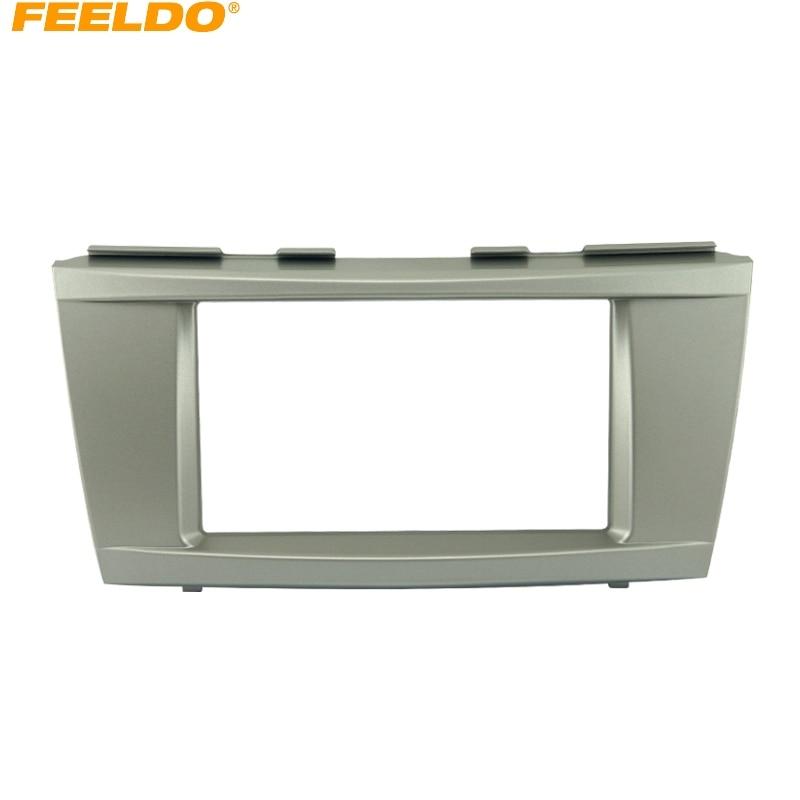 FEELDO 1 шт. автомобиля установке DVD Радио Панель тире Фасции Аудио рамка Комплект для Toyota Camry 2006-2011 2DIN # FD-3261