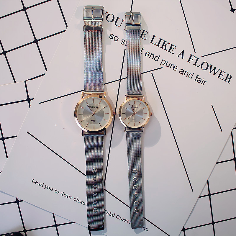 Relogio Feminino Pair Lovers Watches Luxury Couple Gold Dress Quartz Wristwatch Steel Belt Clock Lady Man Gifts Relogio Feminino