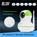 WiFi Camera Infrared +Smoke Detector Home Alarm System Night Vision Security IP Camera Burglar Video Surveillance BW-IPC012GR