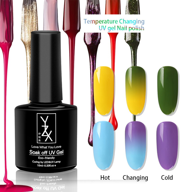 YZX 1x Temperature Change  Pure Color Varnish Soak off UV Nail Gel Polish 10ml Solid Enamel Lacquer Hot Manicure Summer Winter