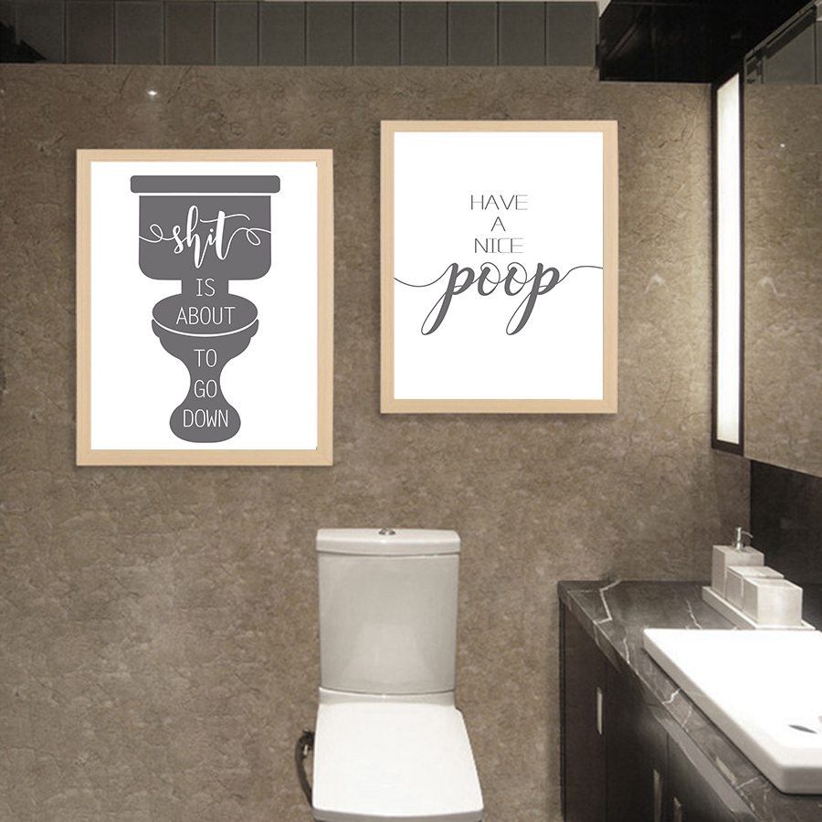Bathroom Prints Funny Quote Wall Art Picture Printable ...