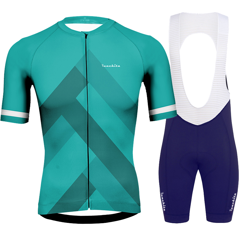 Uniforme ciclismo Runchita 2019 summer cycling jersey set short sleeve cycling clothing men's  bike go pro MTB roupa de ciclismo|Cycling Sets| |  - title=