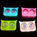 New cool cat caso de lentes de contato para os olhos de plástico bonito dos desenhos animados caixa de lentes de contato cor casos eyewear