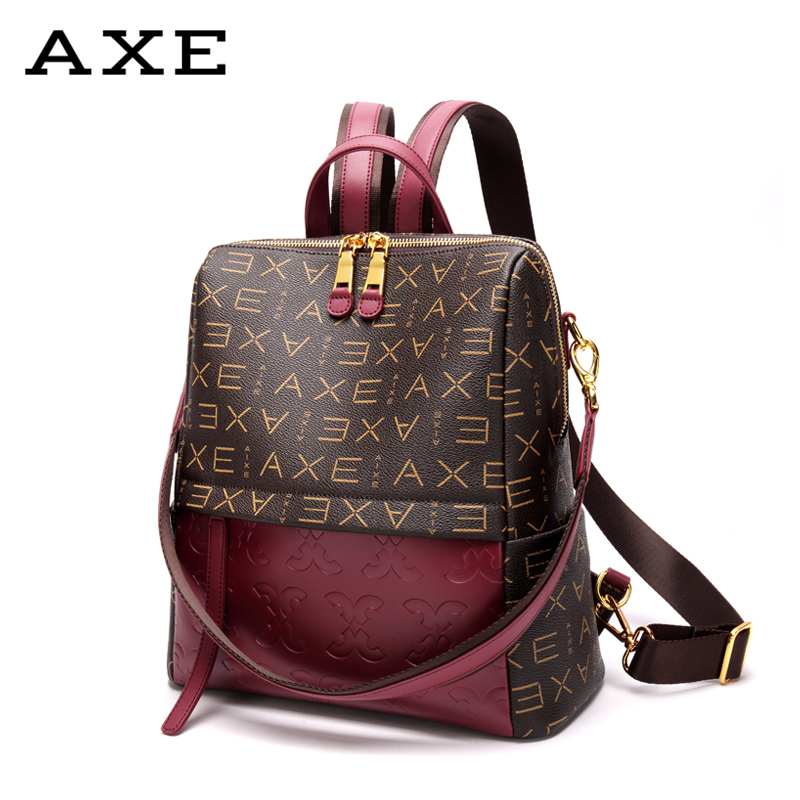 Shoulder Bag High Quality PU Leather Women Backpack Fashion School Bags For Teenager Girls Casual Large