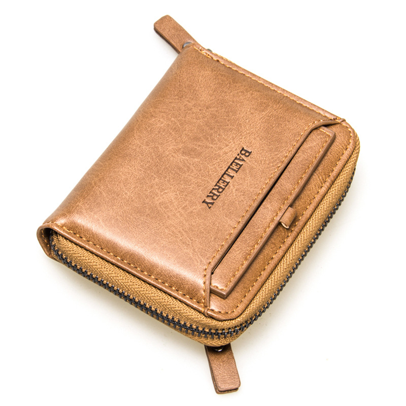 2017 wallet card organizer money bag coin pocket pu leather wallets vintage purse men multifunction card holder photo bit