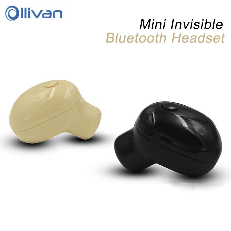 Ollivan Professional Mini Bluetooth Earphone Wireless Stereo Earbud Handsfree In Ear Invisible Earphone Ear Bud for Mobile Phone