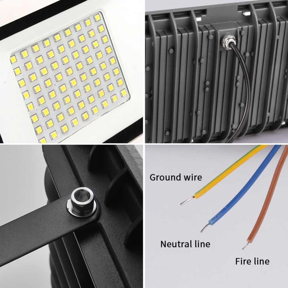 LED Flutlicht 10W 20W 30W 50W 100W Flutlicht Led-strahler Außen Beleuchtung Projektor Reflektor wand Lampe 220V Garten Platz