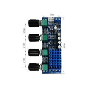 Image 5 - DC 12V 24V 80W x 2 Dual channel Digital Audio TPA3116 D2 Treble Bass Regulating Preset Pre amplifier Board Amplificador