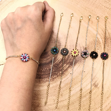 FAIRYWOO Woman Cute Flower Jewelry Miyuki Beaded Bracelets Charm Sweet Handmade Dangle Bracelet Ins Hot Sale Accessories