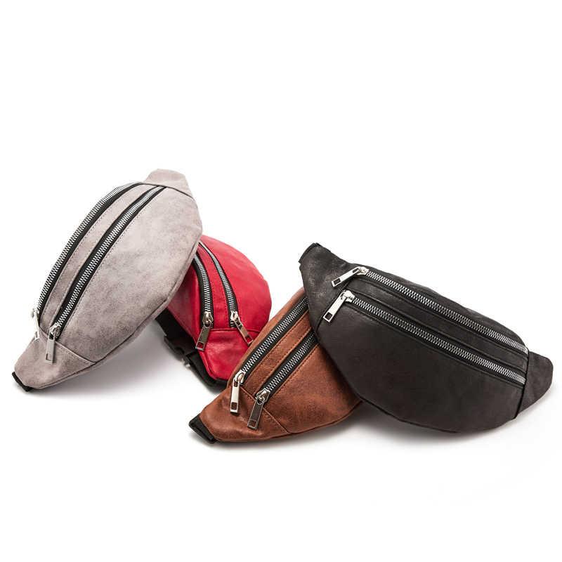 ファニーパックウエストバッグ旅行ベルト胸電話ファッション女性火傷バッグダブルジッパー大容量 Heuptas
