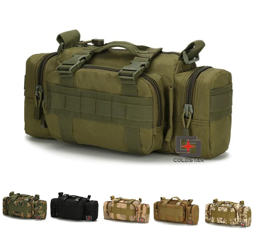 Multi Color Men Outdoor Sports Military Equipment Bag Tactical Camping Hiking Bike Waist Hand Travel Shoulder Bag