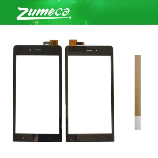 High Quality For Micromax Canvas Q354 Touch Screen Screen Touch Panel Lens Glass Replacement Part Black Color With Tape