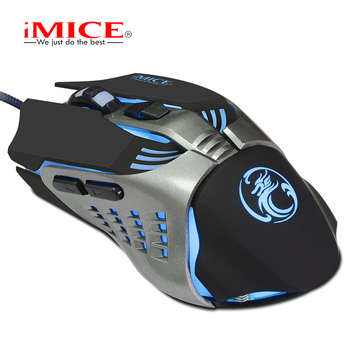 IMice USB Wired Gaming Mouse Custom Computer Mouse 3200 CPI Ergonomic Optical Mice 7 Buttons Mouse Gamer For LOL DOTA2 CS เมาส์