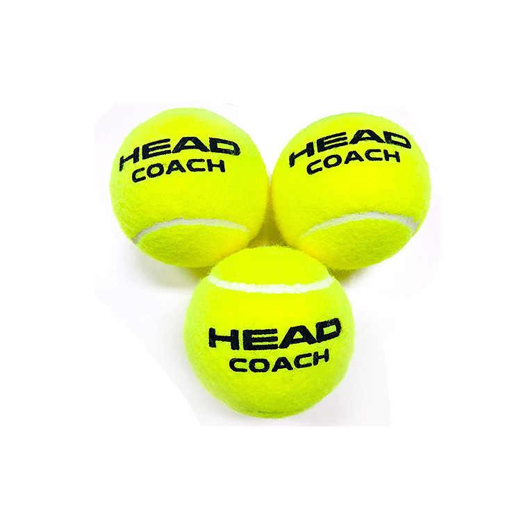 3 шт./6 шт./12 шт. оригинальная головка теннисный мяч резиновая шерстяная голова тренера тренировочные мячи Теннисный тренажер теннисный мяч Pro Pelotas Tenis