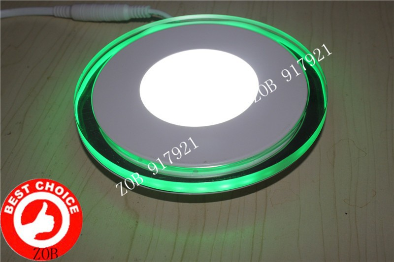 ФОТО 20w 2000lm New Acrylic material Mini Led Ceiling LED Round Ceiling Light Features Colorful super thin gree+white+driver 2PCS/LOT
