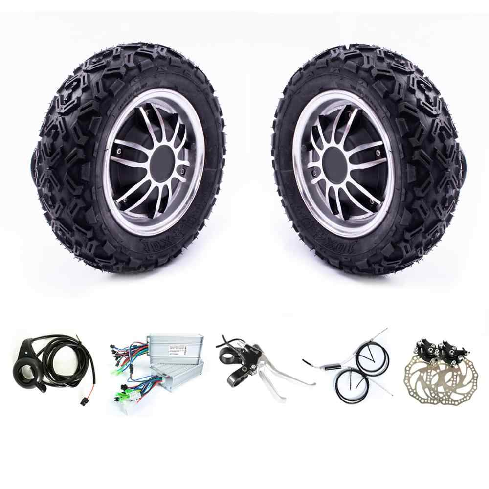 "10 zoll Reifen 24v 36v 350w 500w 800w 10 ""Buggy Roboter Trolly Doppel Dual stick Elektrische Motor Rad Kit 10"" Roller DIY Kit"
