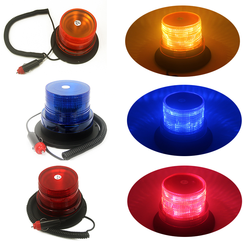 12V High power Amber Yellow/Red/Blue Color 26 LED Car Truck school bus Warning flash beacon Strobe Emergency light Magnetic base