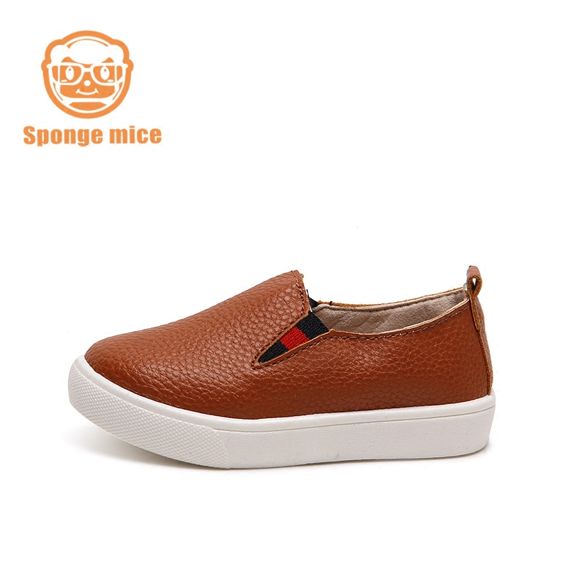 Children Shoes Genuine Leather Boys Flats Lofers Shoes Girls Outdoor Walking Comfortable Unisex Fashion Baby Kids Shoes Slip-on