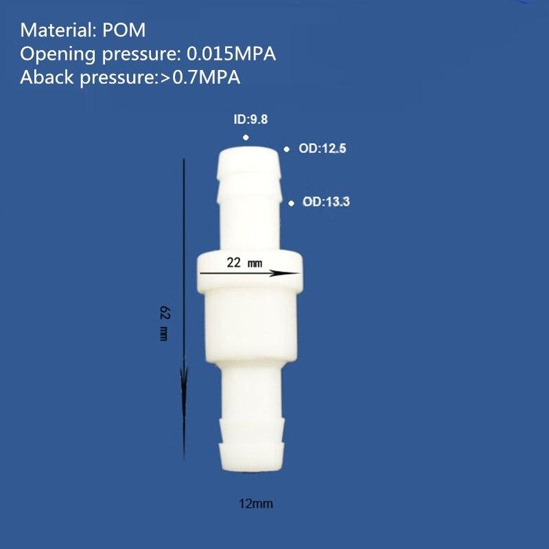 Купить с кэшбэком High pressure aback check valve Plastic liquid gas Check valve Non return valve No return valve  Size  4mm,,6mm,8mm,10mm,12mm