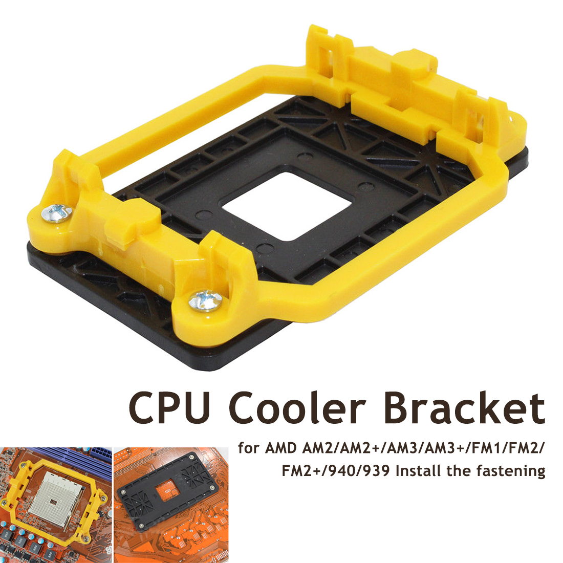 Etmakit Quality CPU Cooler Bracket Motherboard for AMD AM2/AM2+/AM3/AM3+/FM1/FM2/FM2+/940/939 Install the fastening image