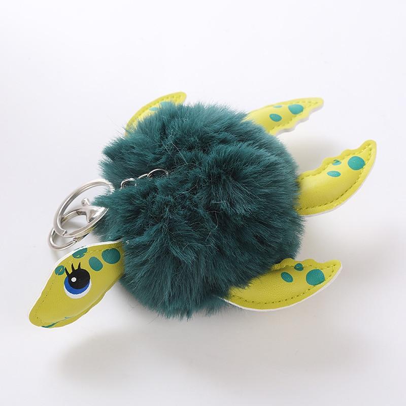 Cute Turtle Ball Fake Fur Pompom Keychain For Womens Bag Cars Soft Pom Pom  Fluffy Key Chains Keyring Pendant Porte Clef Charm-in Key Chains from  Jewelry ... 78e8252e7c