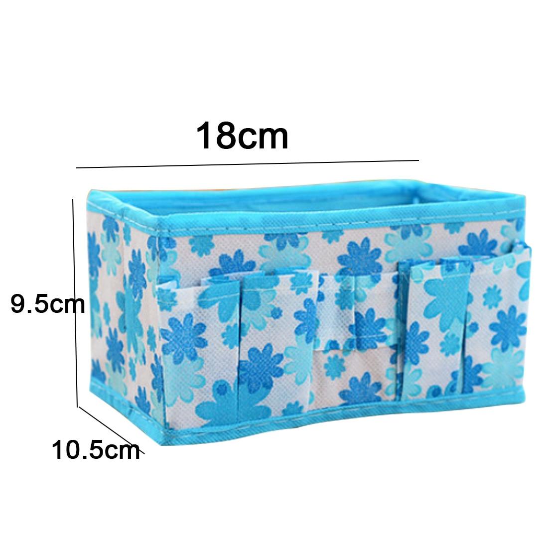 New Green/Blue/Purple/Pink/Orange Multifunction Beauty Flower Folding Makeup Cosmetic Storage Box